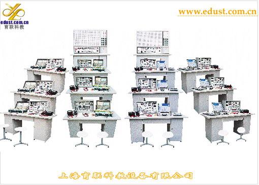YLK-3100型模电、数电、高频电路实验室成套设备 研制模电、数电、高频电路实验室成套设备产品的意义: 本产品适用于高频电路实验,综合了各学校讲课及实验教师的意见、增加了系统的开发能力和灵活性。该系统含有相配套的电源、信号源、电路实验区、电路开发区,主体采用独特的两面板工艺,正面贴模,印有原理图及符号,反面为印刷导线并焊接相应元器件,基本实验电路做成单元盒式,相互独立,提高抗干扰性,盒体透明直观。为适合基础教学的需要,增添了数字电路、模拟电子技术实验线路。这崭新的实验设备实现了专业基础课(模拟、数字电路