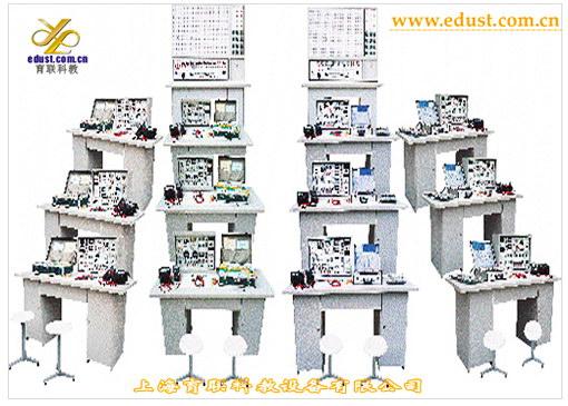 模电、数电、自动控制原理实验室功能与结构: 一、实验台部分: 1、电源 1.1电源输入:工作电压220V5%(50Hz),输入时指示灯亮。 1.2电源输出:有保险丝和漏电保护开关二级保护功能。 A组:低压交流电压3-24V分七档可调,输出电流1.5A。 B组:二组互相独立的0-30V连续可调直流稳压电源,输出电流1.