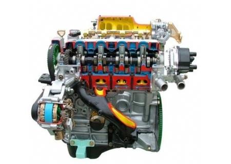图1为四缸发动机工作原理:内燃机通过连杆把四个汽