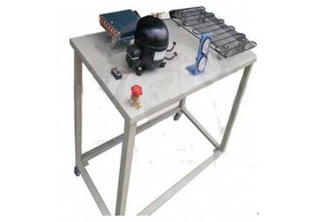 桌面用于放置空调和冰箱制冷系统的元器件并提供一