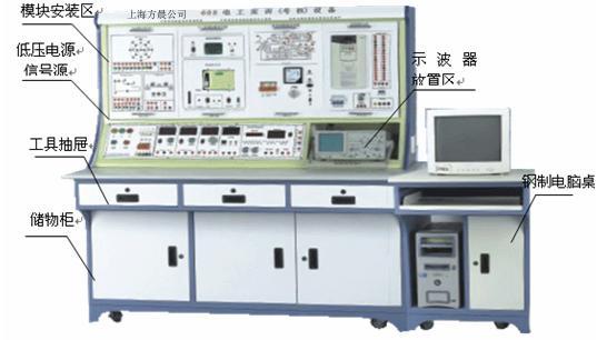 该套设备包括了电工基础,仪表工具,接线工艺,电子电路,电力拖动,机床